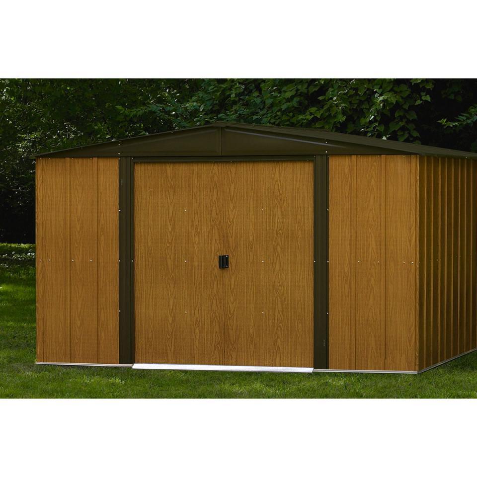 chalet cabri de jardin en mtal aspect bois 5 m jardin catgorie abri de jardin. Black Bedroom Furniture Sets. Home Design Ideas