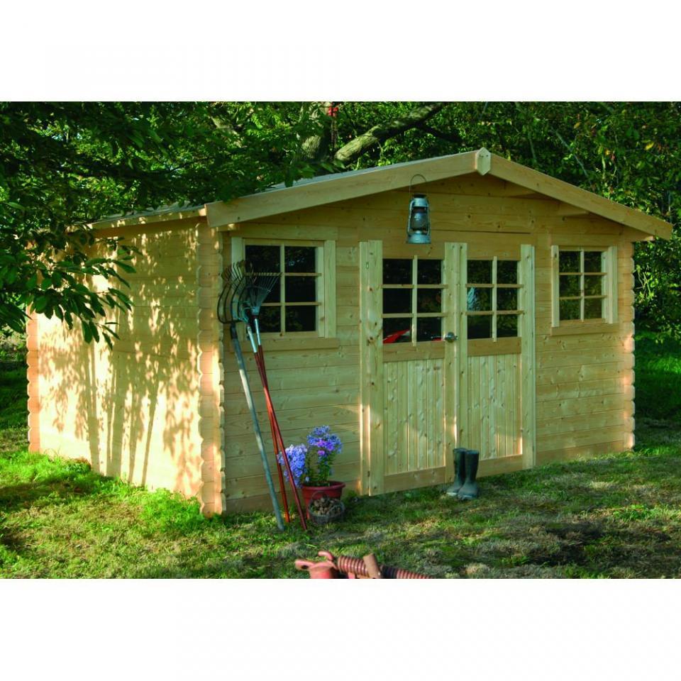Abri c de jardin bois sion 13 7 m2 mm for Abri de jardin 12 m2