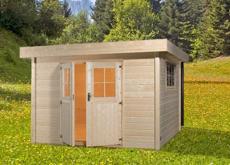Bear abri de jardin en bois massif 1695m madriers 34mm for Bear county abri de jardin
