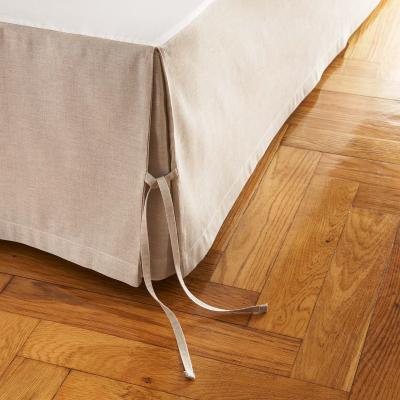 alexandre cache sommier lin cachou naturel 160x200 turpau. Black Bedroom Furniture Sets. Home Design Ideas
