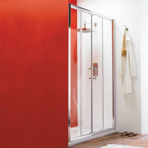 Hudson porte de douche coulissante 160x185cm reed for Accessoire porte de douche coulissante