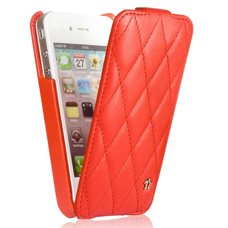 Housse issentiel pour iphone 4 4s cuir rouge for Housse iphone 4 cuir