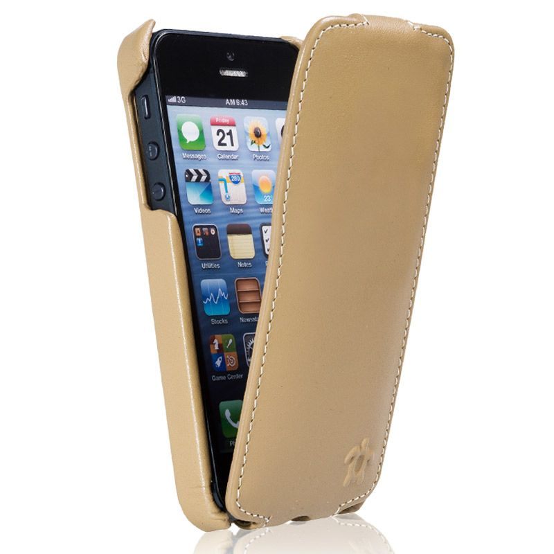 Issentiel coque pour iphone 4 4s cuir blanc grain for Housse cuir iphone 5