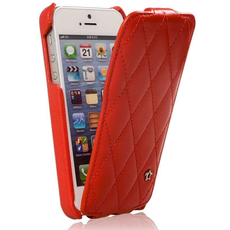 Issentiel chousse pour iphone 5 iphone 5s cuir blanc grain for Housse iphone 5 cuir