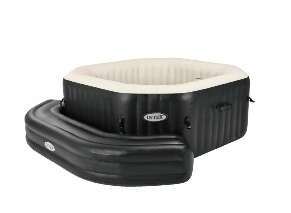 intex entourage gonflable pour spa purespa octogonal jets. Black Bedroom Furniture Sets. Home Design Ideas