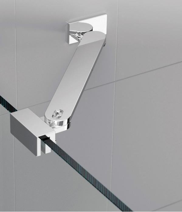 Novellini barre de renfort dangle 45cm pour paroi de douche - Barre de douche pour baignoire d angle ...