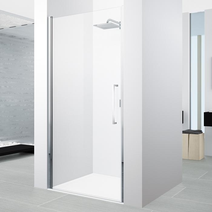 novellini porte pivotante young 2 0 1b 80cm transparent chro. Black Bedroom Furniture Sets. Home Design Ideas
