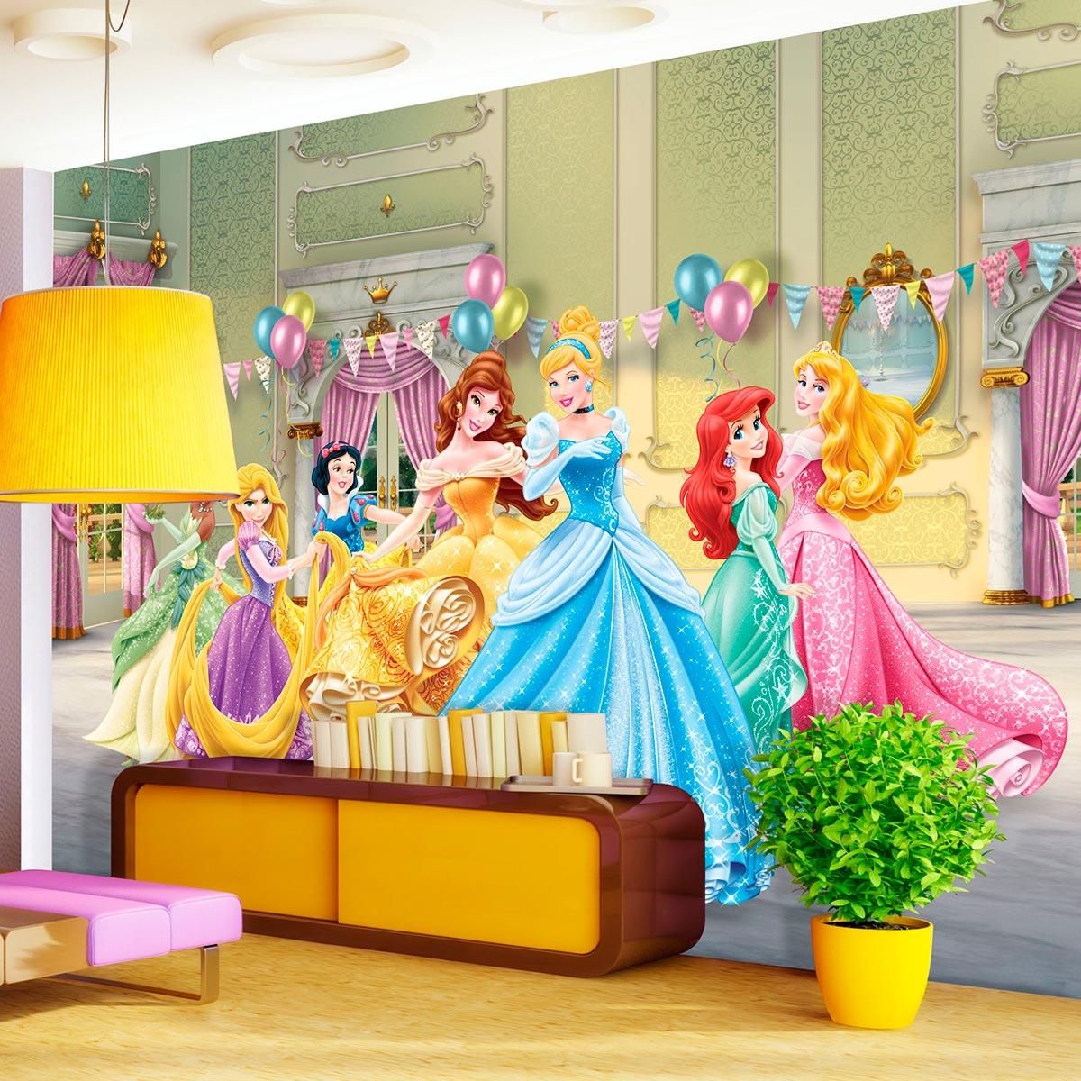 disney papier peint xxl anniversaire princesse 360 x 2. Black Bedroom Furniture Sets. Home Design Ideas