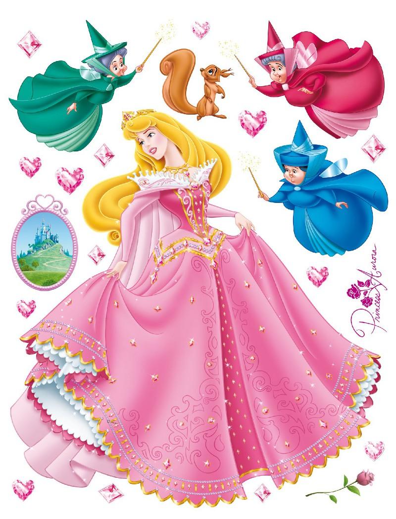 Chambre Princesse Disney : Disney Sticker gant Princesse la Belle au Bois Dormant catgorie Vlos …