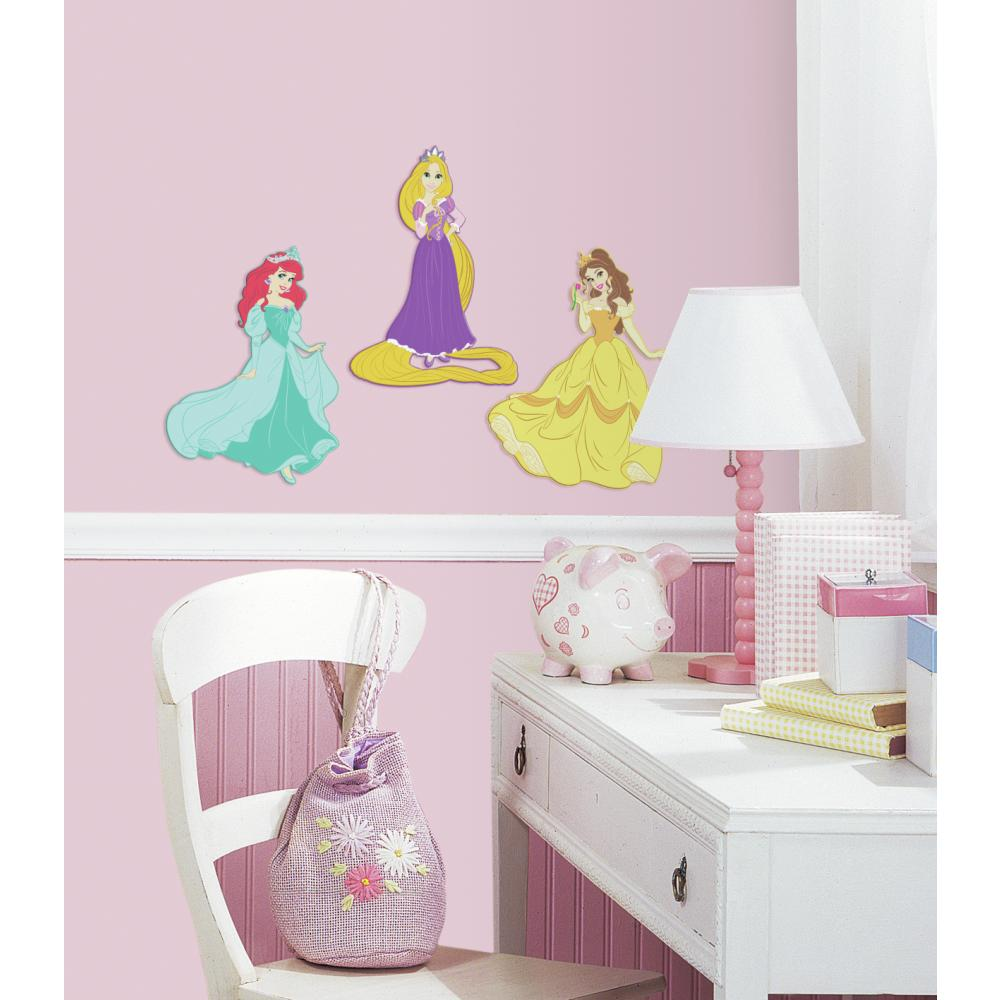 roommates stickers disney chteau princesse personnalisable. Black Bedroom Furniture Sets. Home Design Ideas
