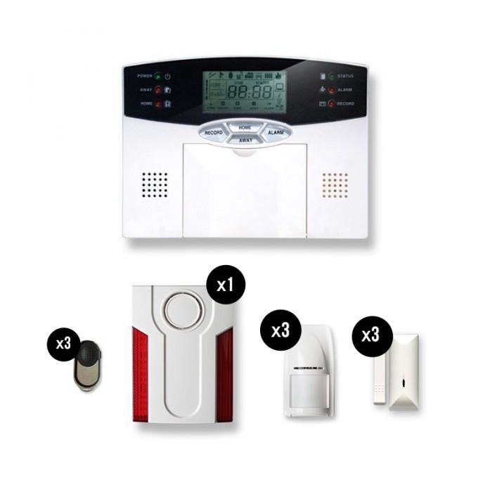 Tike alarme maison sans fil securite 2 3 pices catgorie for Alarme maison sans fil tike securite