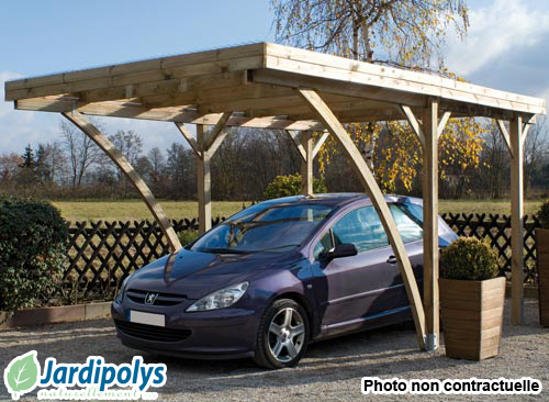 Jardipolys ccarport milano uno 1 voiture 1632m for Comparateur garage voiture