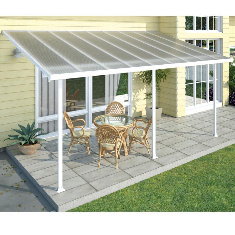 Chalet toit terrasse blanc avanc e 3m 16 1m2 jardin for Jardin 1m2