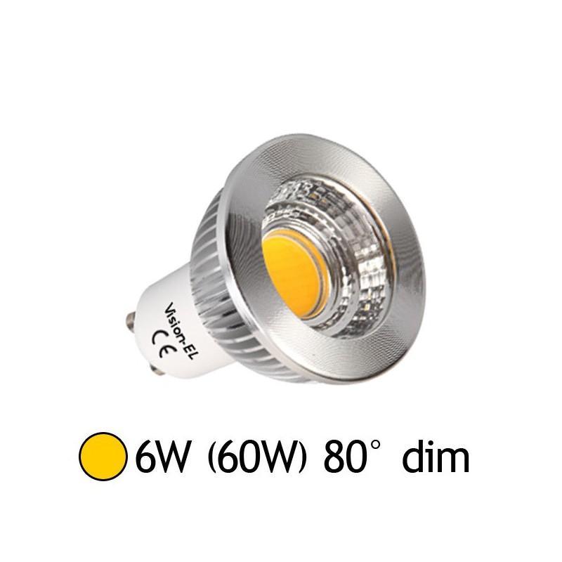 vision ampoule led gu10 6w cob 2700k dimmable el catgorie ampoule lectrique. Black Bedroom Furniture Sets. Home Design Ideas