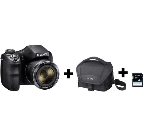 Sony appareil photo bridge dsc h300 housse sd 4go for Housse appareil photo bridge