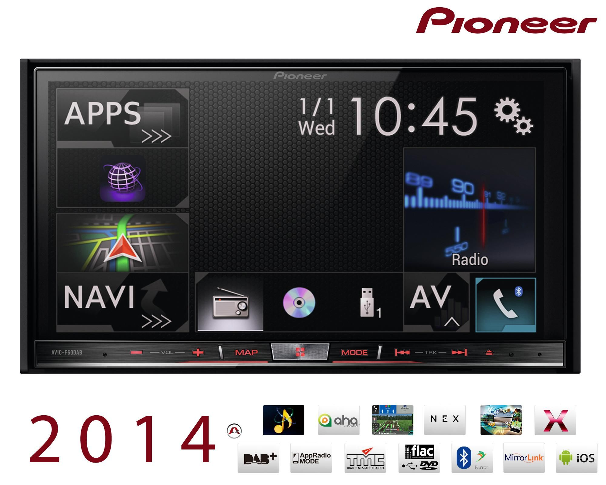 pioneer autoradio video gps avic f60dab. Black Bedroom Furniture Sets. Home Design Ideas