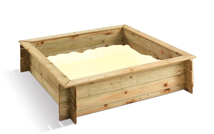 Jardipolys bac sable carr en bois couvercle - Bac a sable bebe ...