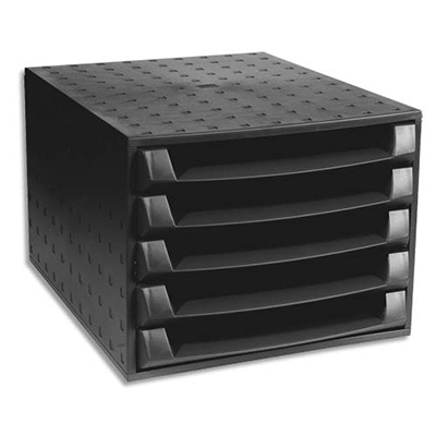 exacompta the box ouvert caisson tiroirs noir. Black Bedroom Furniture Sets. Home Design Ideas