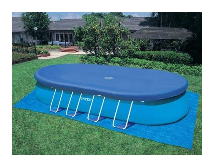 Intex couverture hivernage piscine ellipse for Piscine intex liner