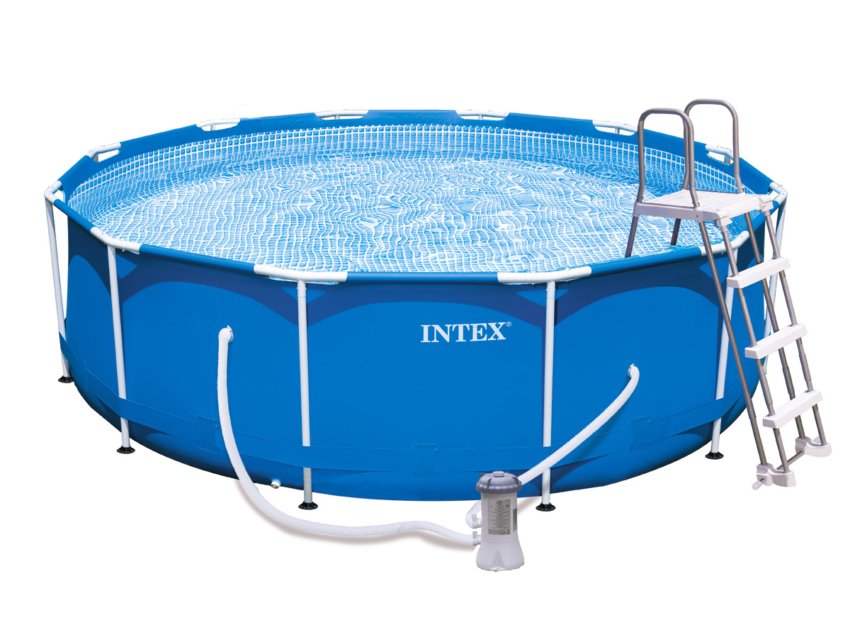 Intex liner tubulaire rond bleu 366 x 099 m liner s for Liner piscine intex