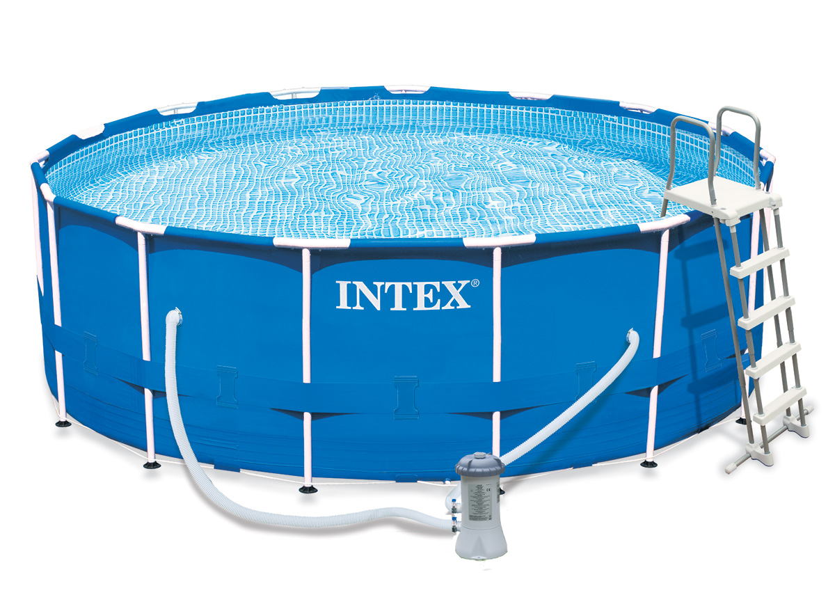 Intex liner tubulaire rond bleu 427 x 122 m liner se for Piscine tubulaire intex 4 57 x 1 22m
