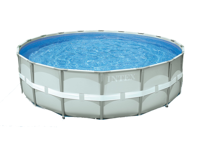 Intex liner tubulaire rond gris 488 x 122 m liner s for Piscine intex liner