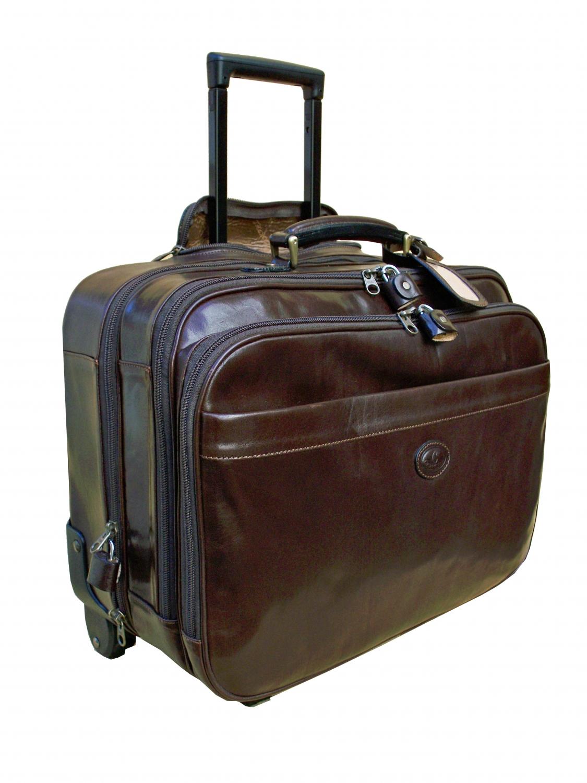 ceancarel valise porte habits en cuir avec trolley ref. Black Bedroom Furniture Sets. Home Design Ideas