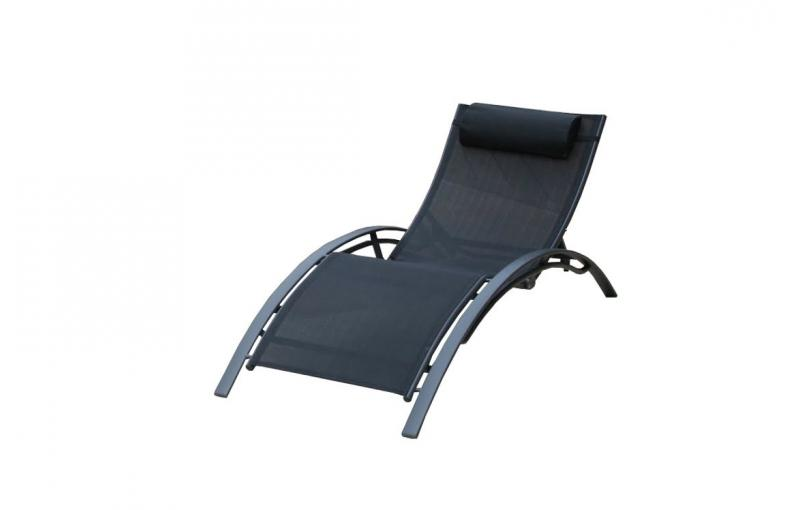 Cat gorie bain de soleil for Chaise longue noire
