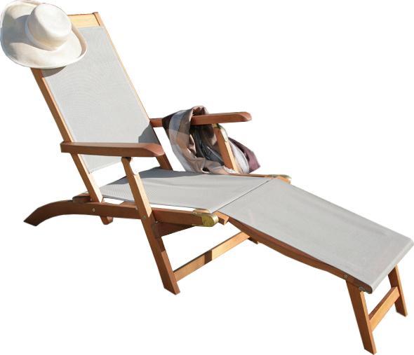 proloisirs bain de soleil grasse en teck et batyline taupe. Black Bedroom Furniture Sets. Home Design Ideas
