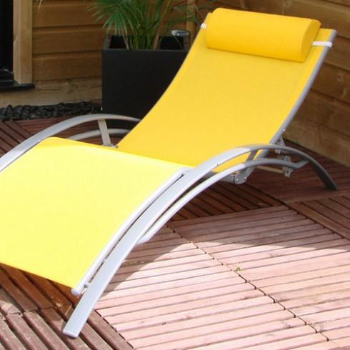 Decochine prix anniversaire bain de soleil aluminium for Chaise longue jardin aluminium