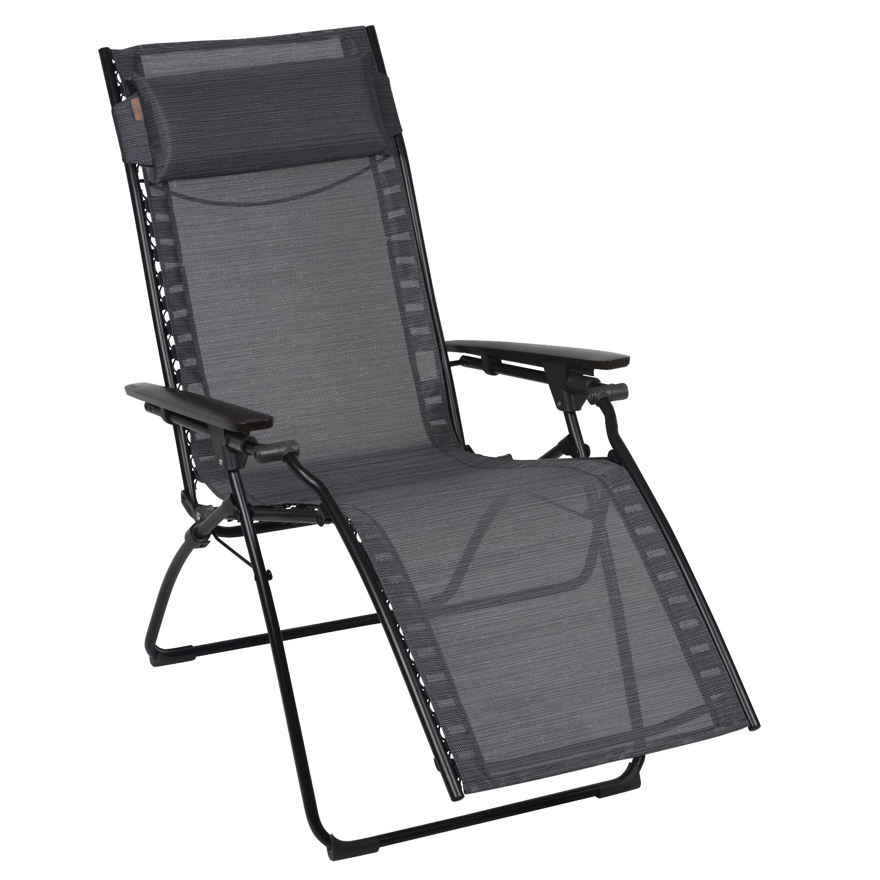 lafuma c evolution chaise pliante natural batyline noir 2. Black Bedroom Furniture Sets. Home Design Ideas