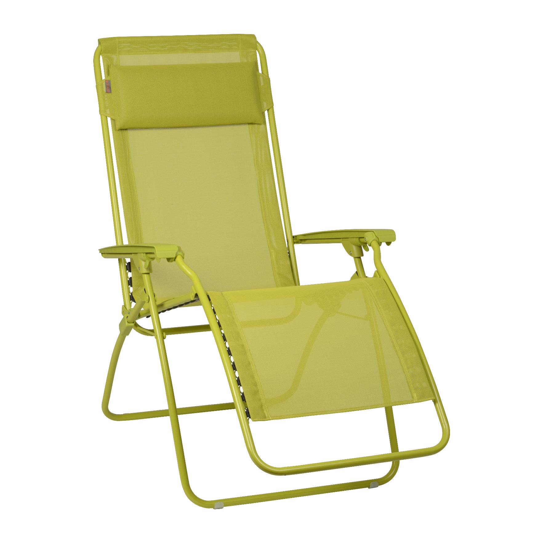 Lafuma c r clip chaise pliante colorblock batyline vert 2 for Chaise bain de soleil pliante