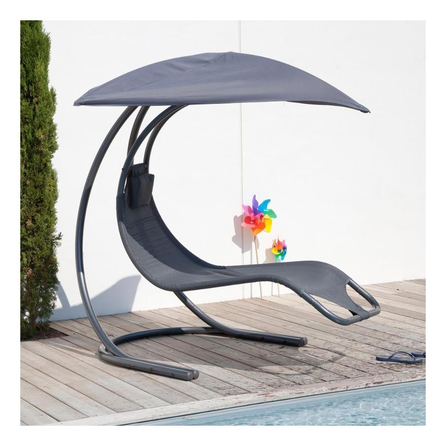 proloisirs chaise suspendue zen 2 en acier royal grey grise. Black Bedroom Furniture Sets. Home Design Ideas