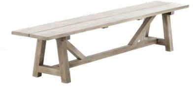 Banc de table de jardin en