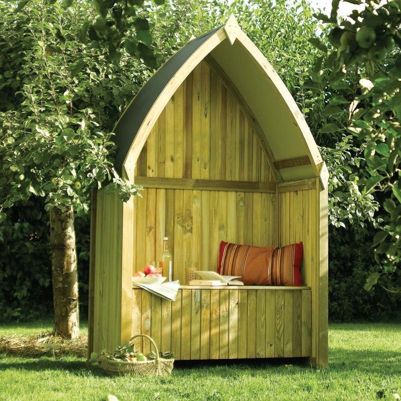 Rowlinson kiosque banc coffre en bois fsc catgorie for Banc coffre bois jardin