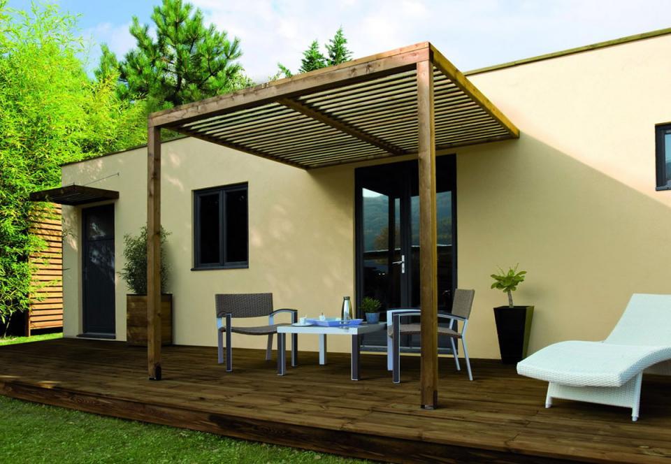 jardipolys ccarport en bois longueur 257 cm lumilam cat gorie am nagement de garage. Black Bedroom Furniture Sets. Home Design Ideas