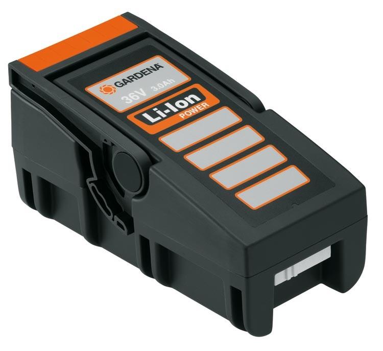 gardena batterie ion lithium 36 v pour tondeuses powermax. Black Bedroom Furniture Sets. Home Design Ideas