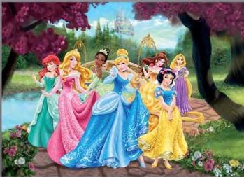 Disney poster xxl chteau princesse for Bebes disney jardin