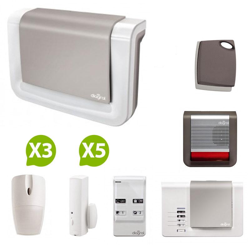 diagral alarme maison nf a2p protection 3. Black Bedroom Furniture Sets. Home Design Ideas