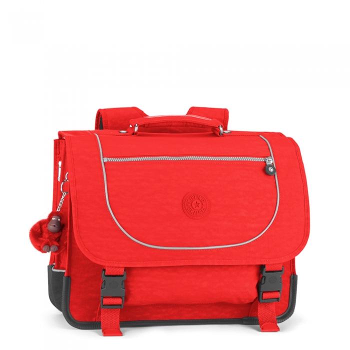 kipling cartable poona rouge 41 cm. Black Bedroom Furniture Sets. Home Design Ideas