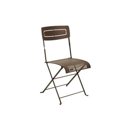 Fermob cchaise pliante slim couleur rouille - Chaise de jardin couleur ...