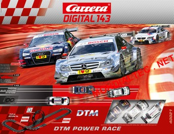 carrera c digital 143 circuit dtm power race. Black Bedroom Furniture Sets. Home Design Ideas