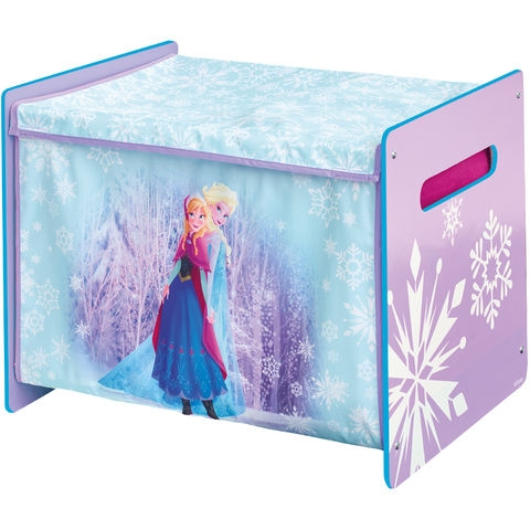 disney coffre jouets bois et tissu la reine des neiges. Black Bedroom Furniture Sets. Home Design Ideas