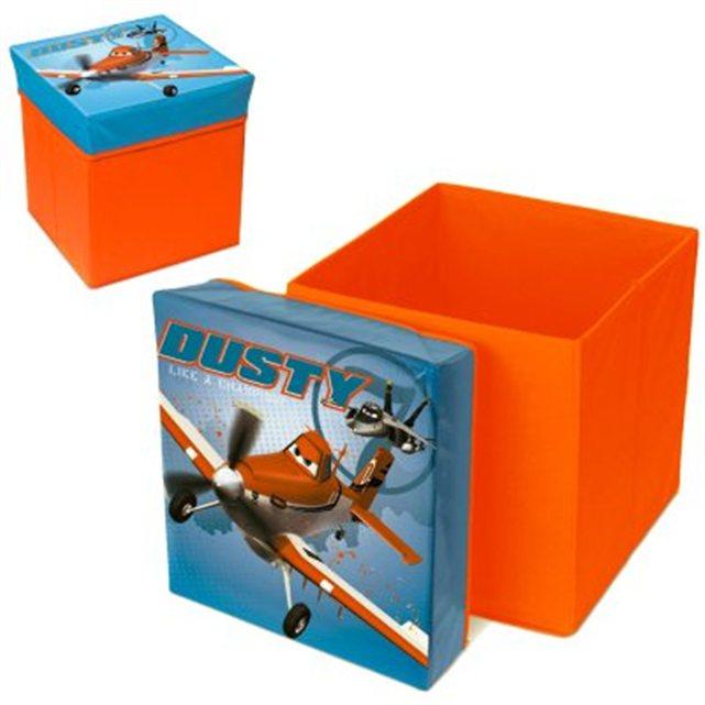 Disney planes pouf de rangement boite de rangement 3 - Rangement produit de beaute ...