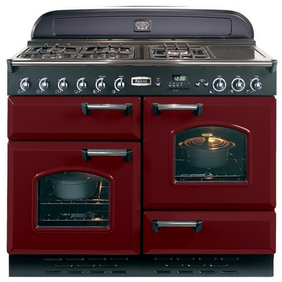 Falcon c clas110lpcyc rouge airelle chrome - Piano de cuisson rouge ...