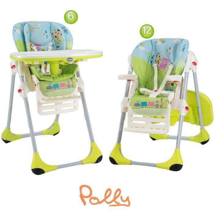 Chicco chousse double polly babyworld for Chaise haute chicco