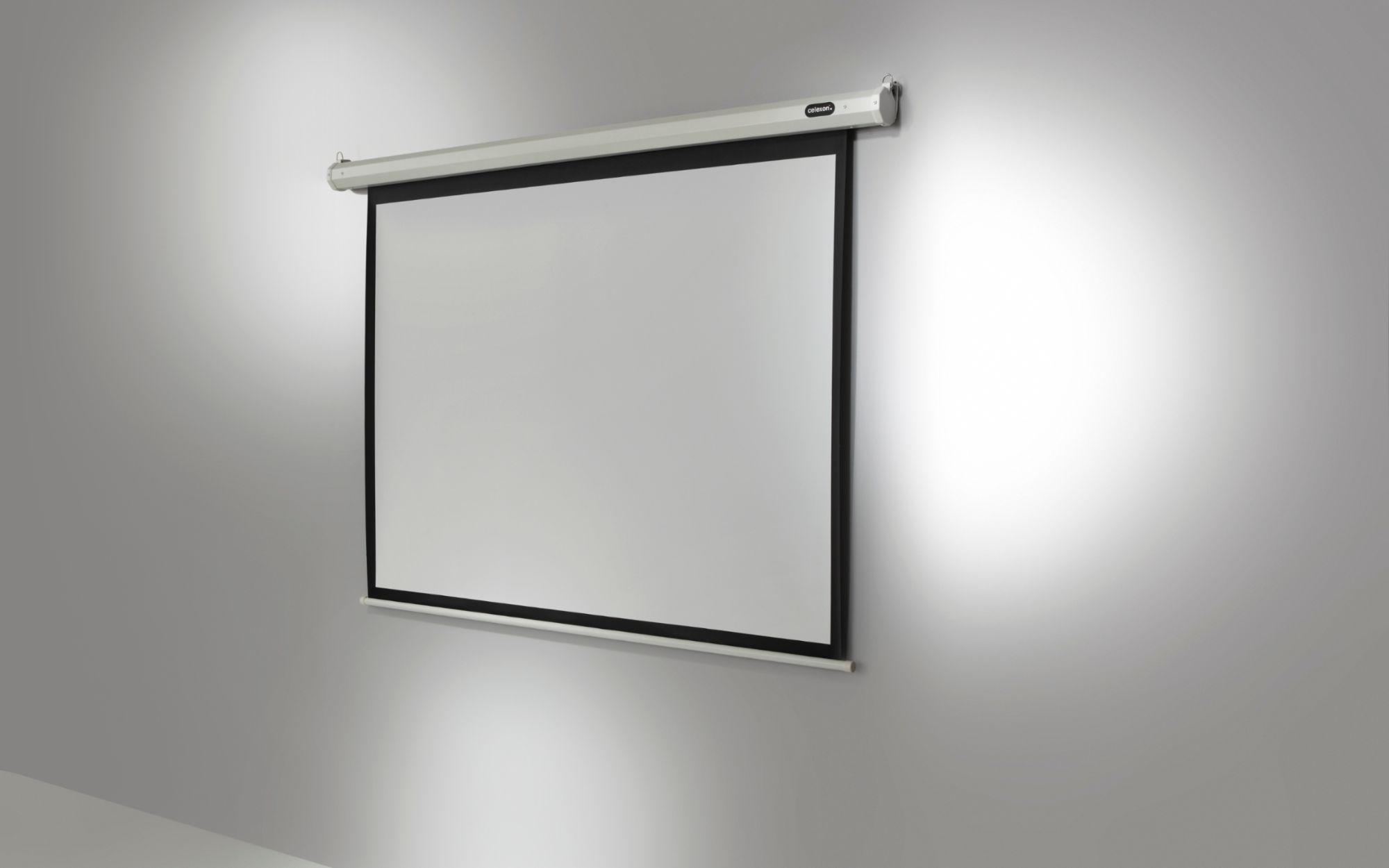 celexon ecran de projection economy motoris 220 x 165 cm. Black Bedroom Furniture Sets. Home Design Ideas