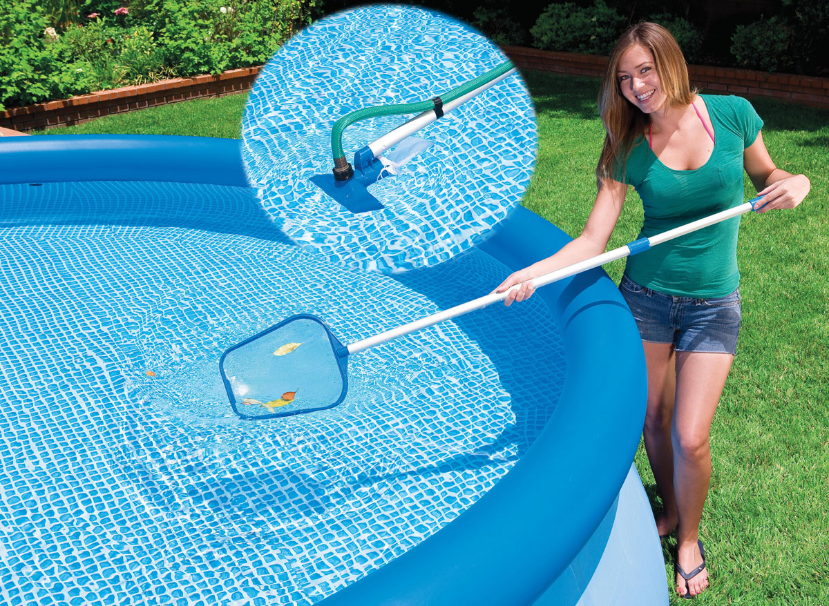 Kit para limpieza de piscina hinchable limpiafondos para for Limpiafondos piscina intex