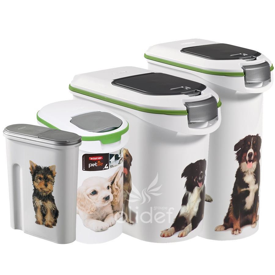 Curver container croquettes 12 kg modle chien catgorie for Maison container nc