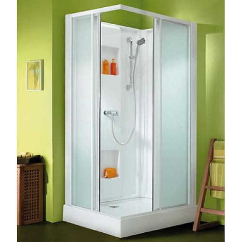 Leda cabine de douche rectangle izibox porte coulissan for Porte de douche leda